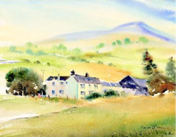 A painting of Erw-Lon Farmhouse Bed & Breakfast